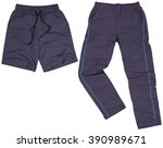 set of male shorts and... | Shutterstock . vector #390989671