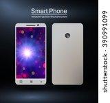 smartphone with bokeh design...   Shutterstock .eps vector #390991099
