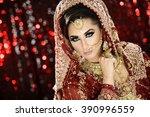 portrait of a beautiful female... | Shutterstock . vector #390996559