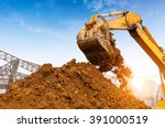 close up of a construction site ... | Shutterstock . vector #391000519