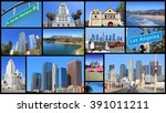 Los Angeles Photo Collage With...