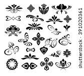 ornamental design elements ... | Shutterstock .eps vector #391020361