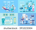 medical examination doctor set... | Shutterstock .eps vector #391023304