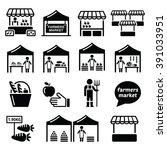 farmers market  food market... | Shutterstock .eps vector #391033951