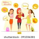 children's characters. fun... | Shutterstock .eps vector #391036381