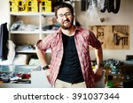 man in store | Shutterstock . vector #391037344