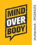 mind over body. sport and... | Shutterstock .eps vector #391043251