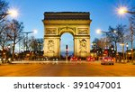 arc de triumphe paris france | Shutterstock . vector #391047001