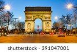 arc de triumphe paris france | Shutterstock . vector #391047001