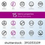 properties of fabrics and... | Shutterstock .eps vector #391053109