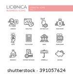 set of modern vector finance...   Shutterstock .eps vector #391057624