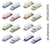 small truck. vector... | Shutterstock .eps vector #391061545