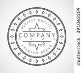 vector logotype. retro vintage... | Shutterstock .eps vector #391063309