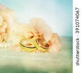 wedding rings | Shutterstock . vector #391074067