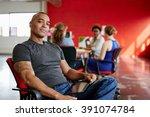 confident male designer working ... | Shutterstock . vector #391074784