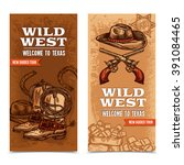 Wild West Vertical Banners Wit...