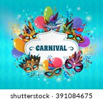 carnival realistic concept with ... | Shutterstock .eps vector #391084675