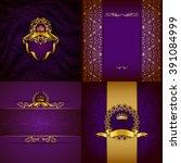 Set Of Luxury Ornate...