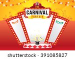the carnival funfair and magic... | Shutterstock .eps vector #391085827