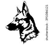 shepherd dog portrait | Shutterstock .eps vector #391086121