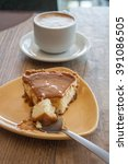 cheese cake and coffee   Shutterstock . vector #391086505