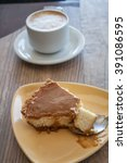 cheese cake and coffee   Shutterstock . vector #391086595