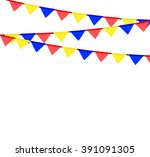 party background with flags... | Shutterstock .eps vector #391091305