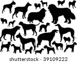 illustration with dog... | Shutterstock . vector #39109222