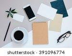 creative flat lay photo of... | Shutterstock . vector #391096774