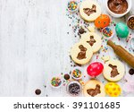 Cookies Easter Bunny  Colorful...