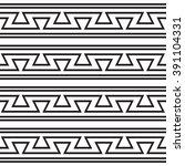 zigzag pattern old style  black ... | Shutterstock .eps vector #391104331