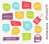 collection of sale discount... | Shutterstock .eps vector #391105279