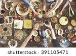 friends happiness enjoying... | Shutterstock . vector #391105471