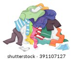 illustration featuring a messy... | Shutterstock .eps vector #391107127