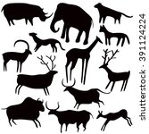 Cave Painting  Stylized Animal...