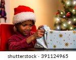Black Boy Opening Christmas...
