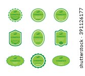 set of labels for bio cosmetics | Shutterstock .eps vector #391126177