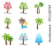 colorful abstract vector tree... | Shutterstock .eps vector #391128769