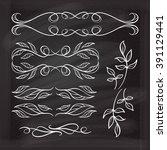 set of elegant floral elements... | Shutterstock .eps vector #391129441