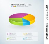business infographic pie chart... | Shutterstock .eps vector #391134685