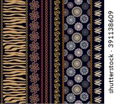 Set Of Seamless Ethnic Pattern...
