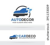 car decoration logo  car body... | Shutterstock .eps vector #391153009