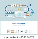 concepts for business analysis... | Shutterstock .eps vector #391154377