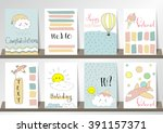 light pink blue collection for... | Shutterstock .eps vector #391157371