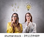 different thinkers | Shutterstock . vector #391159489