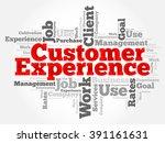 customer experience word cloud  ... | Shutterstock .eps vector #391161631