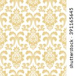 floral pattern. wallpaper... | Shutterstock .eps vector #391165645