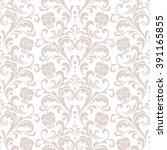 floral pattern. wallpaper... | Shutterstock .eps vector #391165855