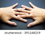 woman flexing stretching... | Shutterstock . vector #391168219