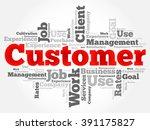 customer word cloud  business... | Shutterstock .eps vector #391175827